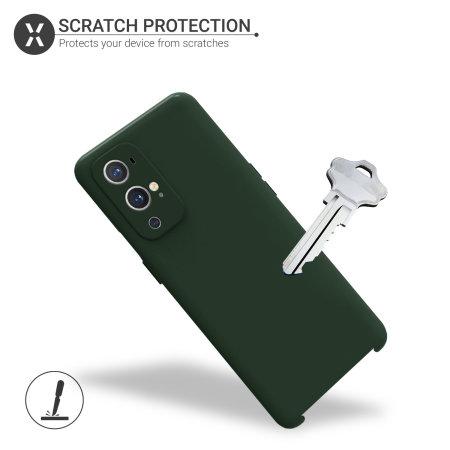Olixar Oneplus 9 Pro Soft Silicone Case - Pastel Green