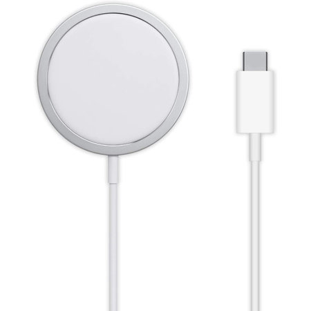 Official iPhone 12 MagSafe Qi Enabled Fast Wireless Charger - White
