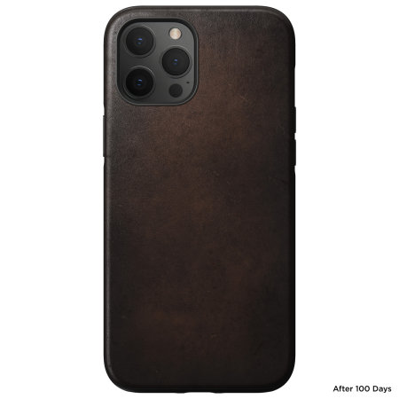 Nomad iPhone 12 Pro Max MagSafe Compatible Leather Case - Rustic Brown