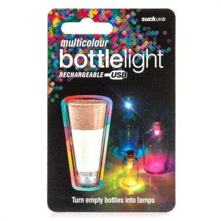 Suck Multicolour Rechargeable USB Cork Shaped Bottle Light