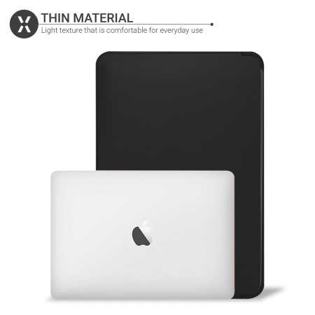 "Olixar MacBook Air 13"" 2020 Leather-Style Sleeve - Black"