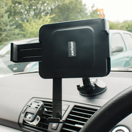"""AnyGrip iPad 10.2"""" 2020 8th Gen. Car Holder & Stand - Black"""