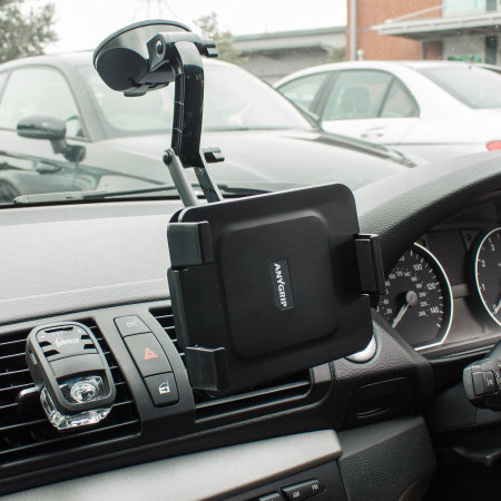 """AnyGrip iPad 9.7"""" 2018 6th Gen. Car Holder & Stand - Black"""