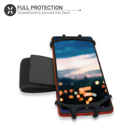 """Olixar Universal Sports Wrist Pouch for Smartphones Up To 6.5"""" - Black"""