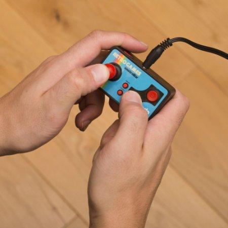 ThumbsUp Plug & Play Retro 200-in-1 Handheld TV Games Controller- Blue
