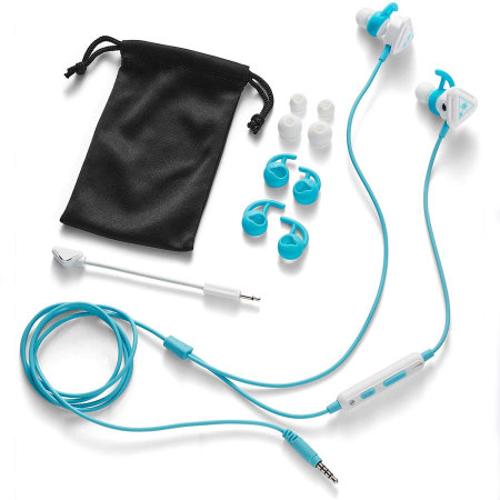 Turtle Beach Battle Bud In Ear 3.5mm Wired Gaming Headset- White /Teal