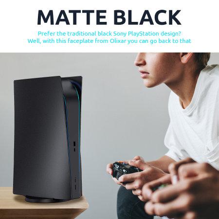 Olixar PS5 Digital Version Faceplates Console Skin Case Cover - Black