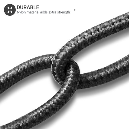 Olixar Braided USB-A to Lightning Charge And Sync Cable - 1.5m - Black