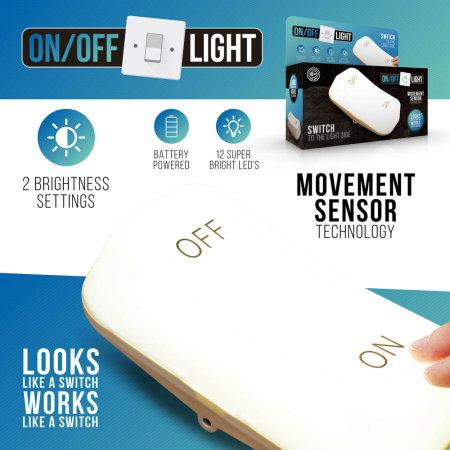 Echo Three Portable Giant On /Off Movement Sensor Switch Light - White