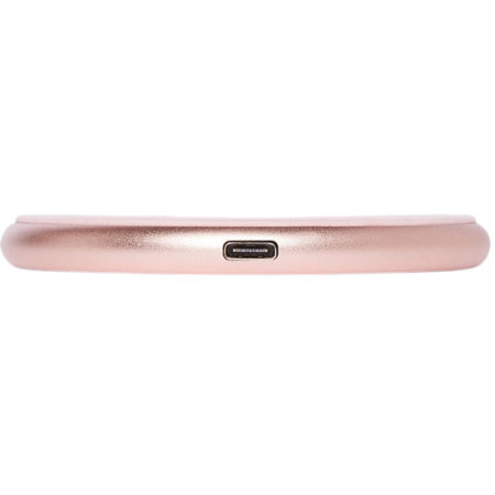 Decoded 10W Qi Genuine Leather Wireless Charging Pad W/ Cable - Pink