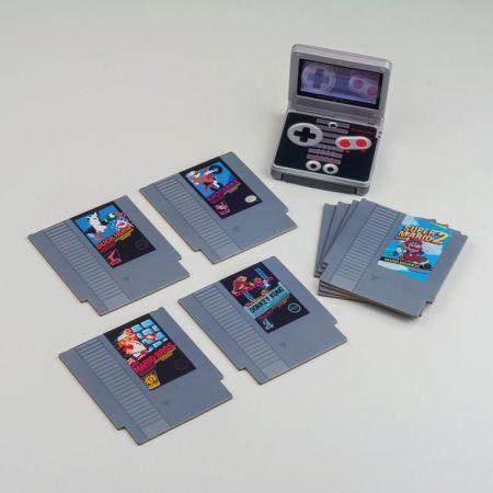 Paladone Nintendo NES Cartridge Coasters for Drinks - 8 Pack