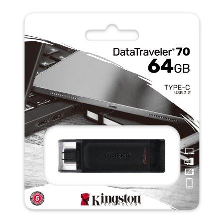 Kingston DT70 64GB USB-C Pendrive - Black