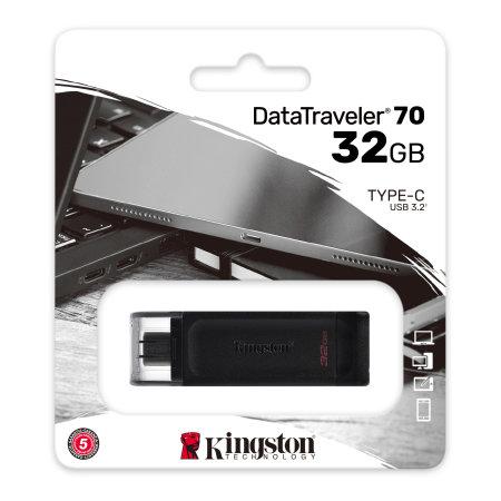 Kingston DT70 32GB USB-C Pendrive - Black