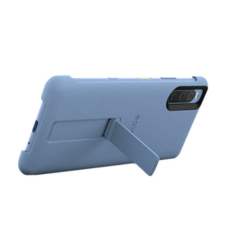 Official Sony Xperia 10 III Style Cover Protective Stand Case - Blue