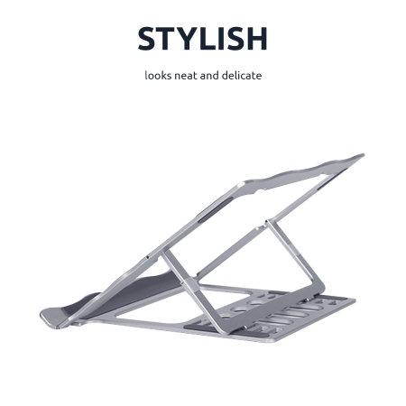 Olixar Adjustable Laptop Stand Mount With Ventilation - Silver