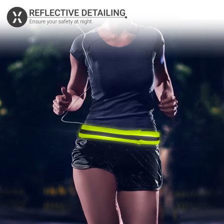 Olixar Universal Smartphone Reflective Running Belt & Pouch - Green