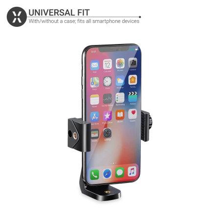 "Olixar Rotatable Universal Phone Tripod Mount Attachment - 1/4""- Black"