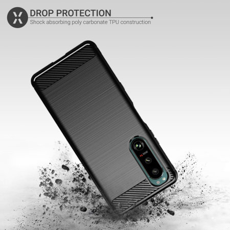Olixar Sentinel Sony Xperia 5 III Case & Glass Screen Protector- Black