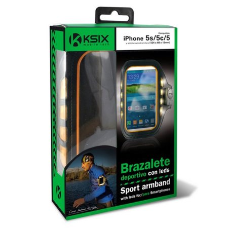 """Ksix Adjustable Reflective Fitness Armband Holder for up to 4"""" Devices"""