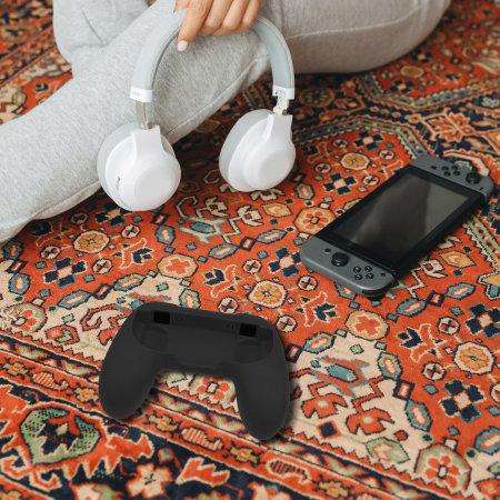 Olixar Nintendo Switch Non-Slip Joy-Con Grips - 2 Pack -  Black