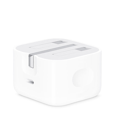 Official Apple 18W USB-C Fast Charger With Folding Pins - White