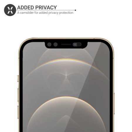 Olixar iPhone 12 Pro Privacy CamSlider Tempered Glass Screen Protector