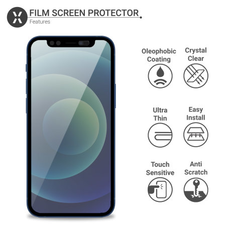 Olixar iPhone 12 Privacy CamSlider Tempered Glass Screen Protector