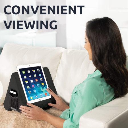 Olixar Anti-Shock Comfortable Tablet Cushion With Side Pocket - Black