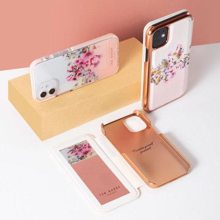 Ted Baker Jasmine iPhone 13 mini Anti-Shock Folio Case - Rose Gold
