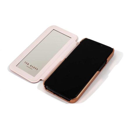 Ted Baker Folio Glitsie iPhone 13 Pro Max Flip Mirror Case - Pink