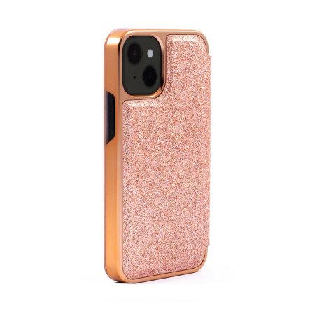 Ted Baker Folio Glitsie iPhone 13 mini Flip Mirror Case - Pink