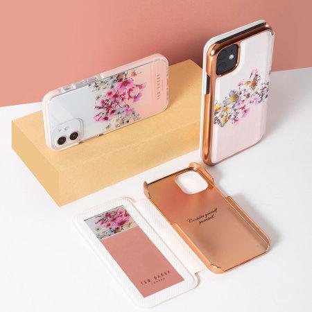 Ted Baker Jasmine iPhone 13 Pro Anti-Shock Folio Case - Rose Gold