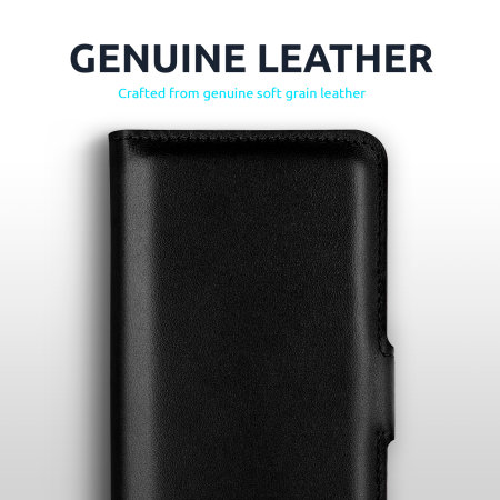 Olixar Genuine Leather iPhone 13 mini Wallet Case - Black