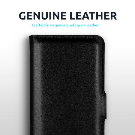 Olixar Genuine Leather iPhone 13 Wallet Case - Black