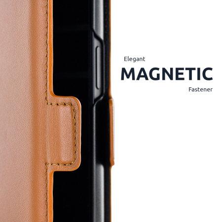 Olixar Genuine Leather iPhone 13 Pro Wallet Case - Brown