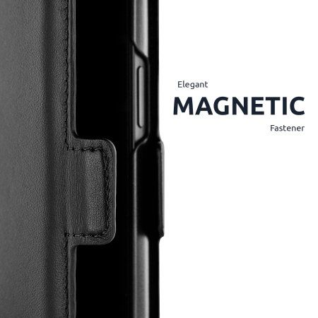 Olixar Genuine Leather iPhone 13 Pro Max Wallet Case - Graphite