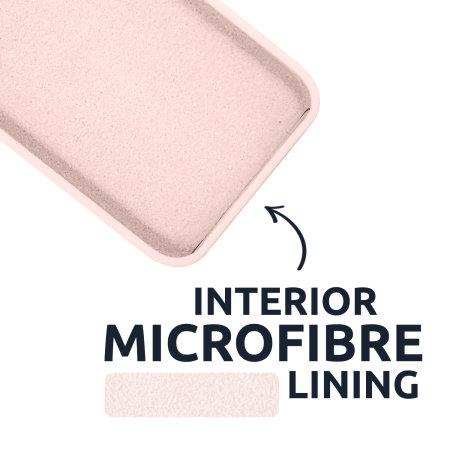 Olixar Soft Silicone iPhone 13 mini Case - Pastel Pink
