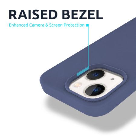 Olixar Soft Silicone iPhone 13 mini Case - Midnight Blue