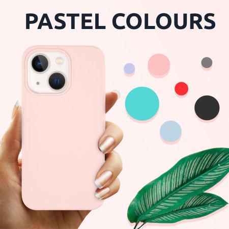Olixar Soft Silicone iPhone 13 Case - Pastel Pink