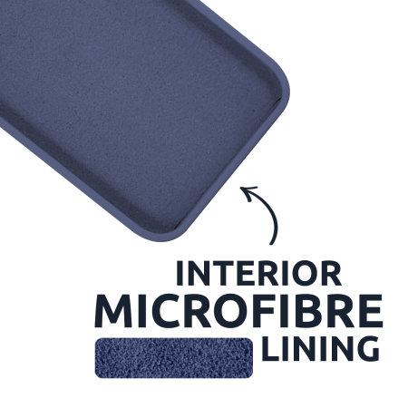Olixar Soft Silicone iPhone 13 Case -Blue