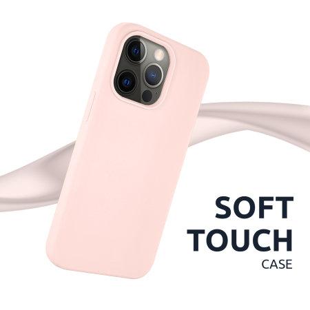 Olixar Soft Silicone iPhone 13 Pro Case - Pastel Pink