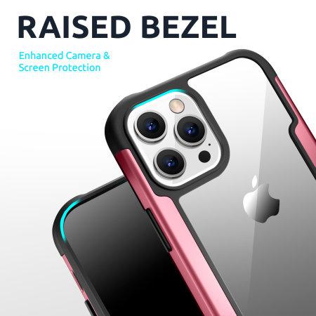 Olixar Novashield iPhone 13 Pro Tough Bumper Case - Rose Gold