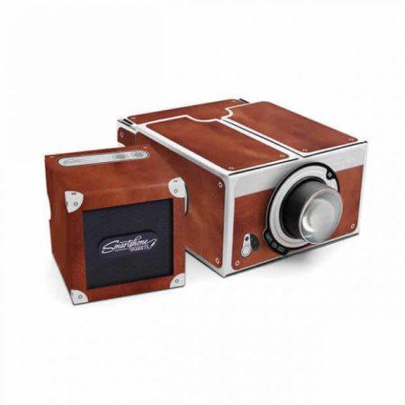 Luckies Deluxe Portable Smartphone Projector 2.0 - Brown