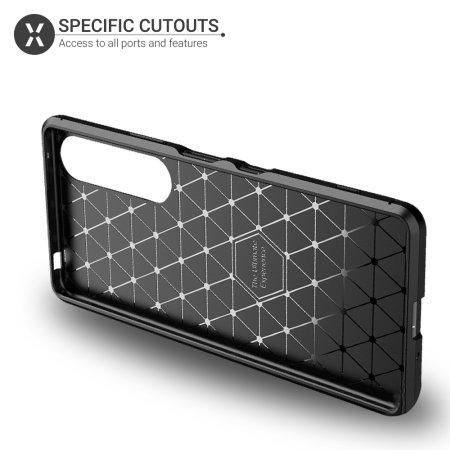 Olixar Carbon Fibre Sony Xperia 1 III Protective Case - Black