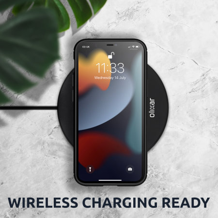 Olixar Carbon Fibre iPhone 13 Pro Tough Case - Black