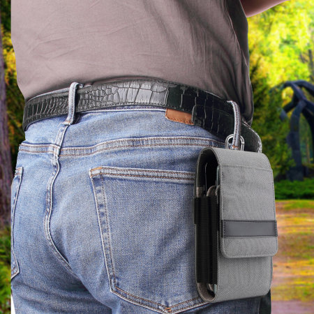 Olixar Universal Dual Phone Holster Pouch - Grey