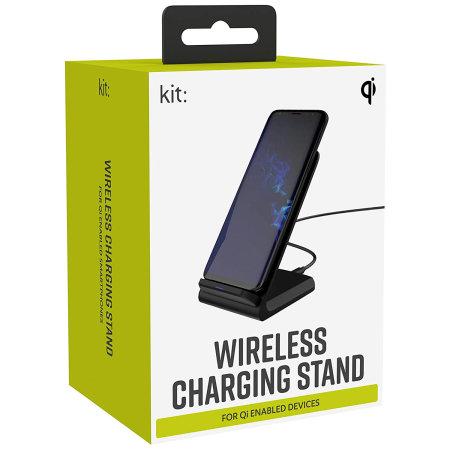 Kit Qi 10W Wireless Charging Stand - Black