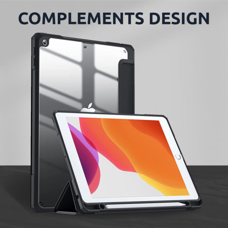 "Olixar iPad 10.2"" 2019 7th Gen. Wallet Case W/ Apple Pencil Holder"