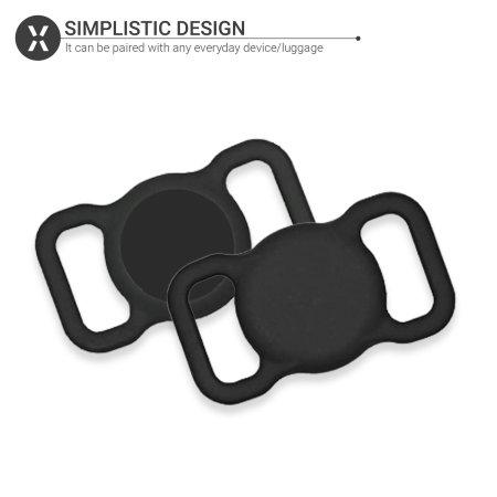 Olixar Apple AirTag Protective Clip On Pet Collar Case - Black