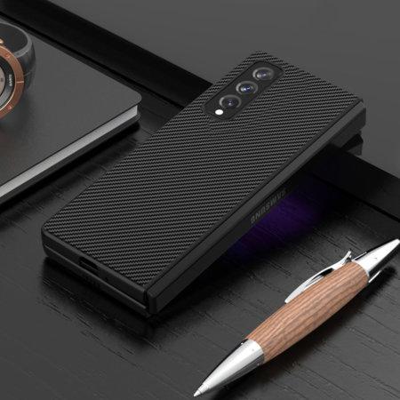 Olixar Carbon Fibre Galaxy Z Fold 3 Protective Case - Black